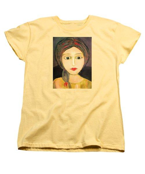 Women's T-Shirt (Standard Cut) featuring the digital art Emma by Lisa Noneman