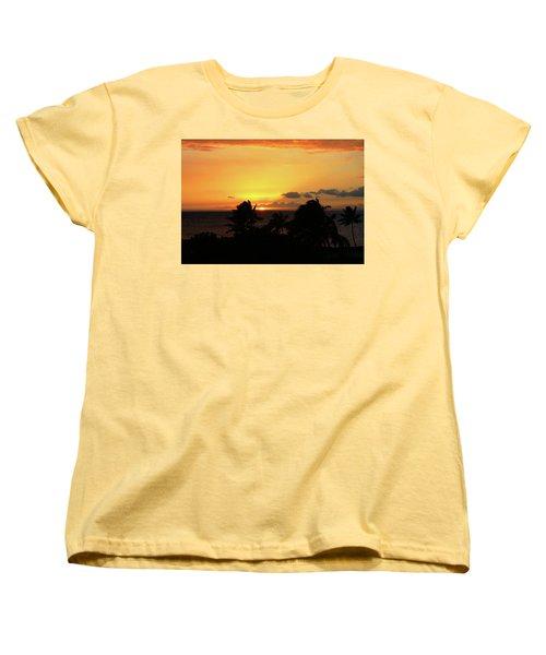 Women's T-Shirt (Standard Cut) featuring the photograph Hawaiian Sunset by Anthony Jones