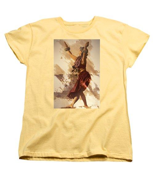 Hula On The Beach Women's T-Shirt (Standard Cut) by Himani - Printscapes