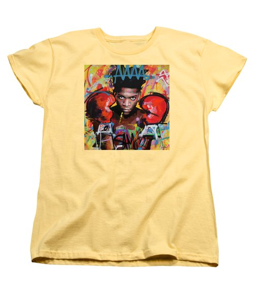 Jean Michel Basquiat Women's T-Shirt (Standard Cut) by Richard Day