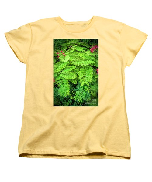 Women's T-Shirt (Standard Cut) featuring the photograph Leaves by Charuhas Images