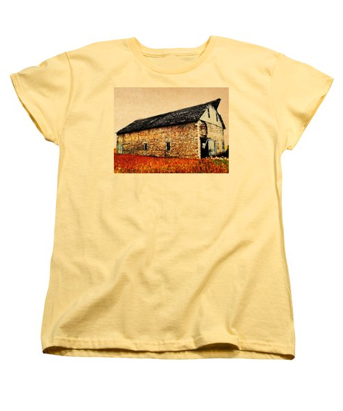 Lime Stone Barn Women's T-Shirt (Standard Cut) by Julie Hamilton