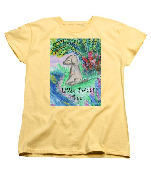 Little Sweet Pea With Title Women's T-Shirt (Standard Cut) by Diane Pape