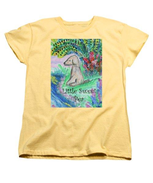 Little Sweet Pea With Title Women's T-Shirt (Standard Cut)
