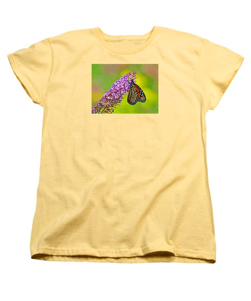 Women's T-Shirt (Standard Cut) featuring the photograph Monarch Butterfly by Rodney Campbell