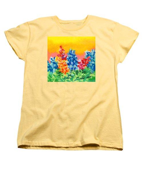 Spring Wildflowers Women's T-Shirt (Standard Cut) by Stephen Anderson