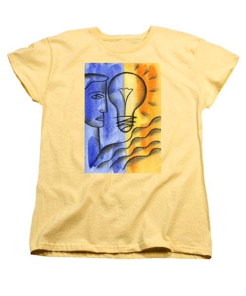 Women's T-Shirt (Standard Cut) featuring the painting Success by Leon Zernitsky
