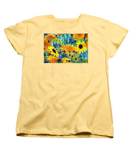 Women's T-Shirt (Standard Cut) featuring the photograph Summer Bouquet by Byron Varvarigos
