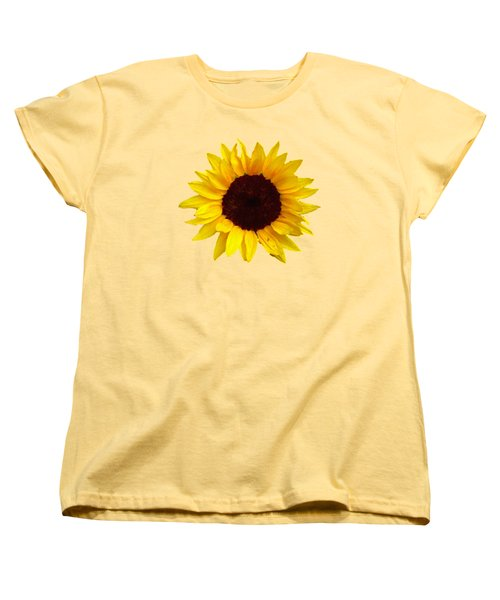 Sunflower Women's T-Shirt (Standard Cut) by Jim Sauchyn