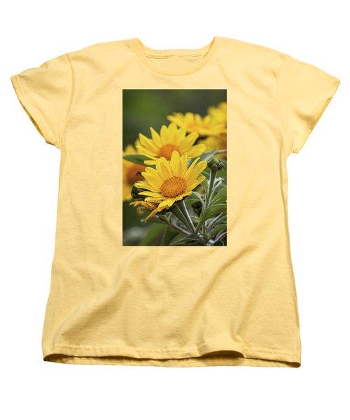 Women's T-Shirt (Standard Cut) featuring the photograph Sunflowers  by Saija Lehtonen