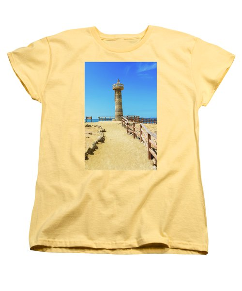 The Lighthouse In Salinas, Ecuador Women's T-Shirt (Standard Cut) by Marek Poplawski