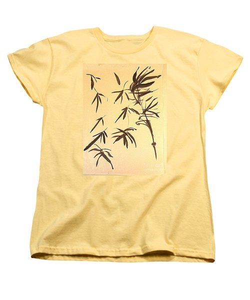 Women's T-Shirt (Standard Cut) featuring the painting Thinking Of Wind 3 by Nancy Kane Chapman