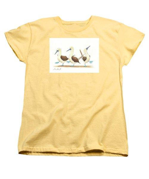 Three Blue Footed Boobies Women's T-Shirt (Standard Cut)