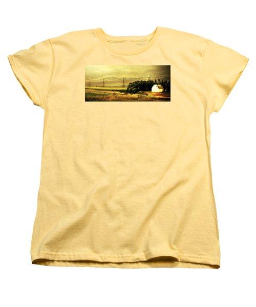 Women's T-Shirt (Standard Cut) featuring the photograph Wind Turbines by Julie Hamilton