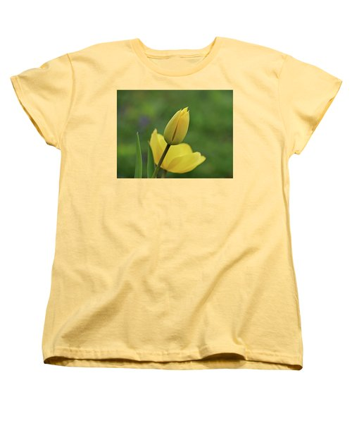 Women's T-Shirt (Standard Cut) featuring the photograph Yellow Tulips by Sandy Keeton