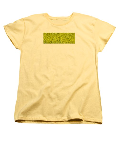 Yellow Women's T-Shirt (Standard Cut) by Wanda Krack