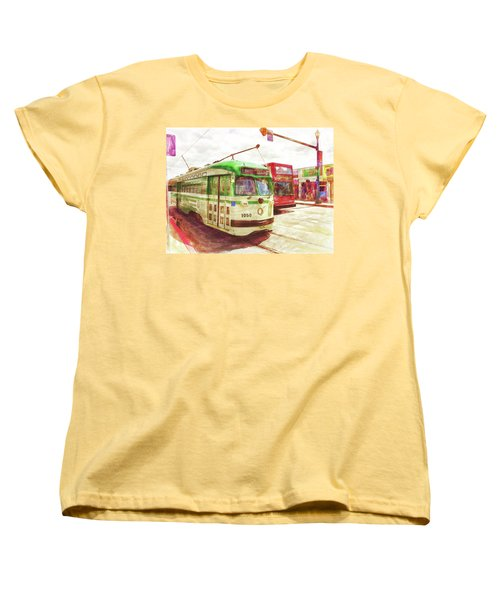 Women's T-Shirt (Standard Cut) featuring the painting 1050 by Michael Cleere