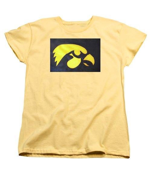 10724  Iowa Hawkeye Women's T-Shirt (Standard Cut) by Pamela Williams