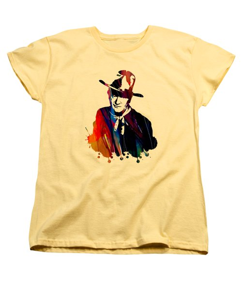 John Wayne Collection Women's T-Shirt (Standard Cut) by Marvin Blaine