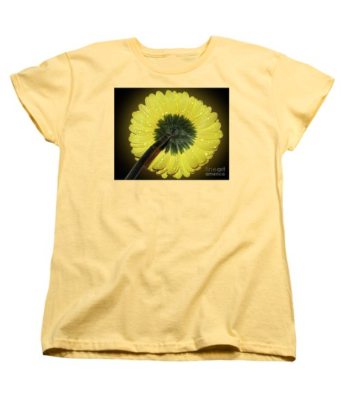 Women's T-Shirt (Standard Cut) featuring the photograph Yellow Gerber by Elvira Ladocki