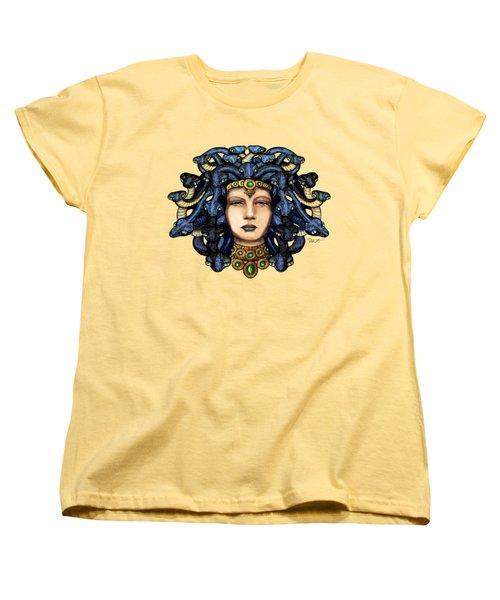 16x20 Medusa 2 Blu Gold Women's T-Shirt (Standard Cut) by Dia T