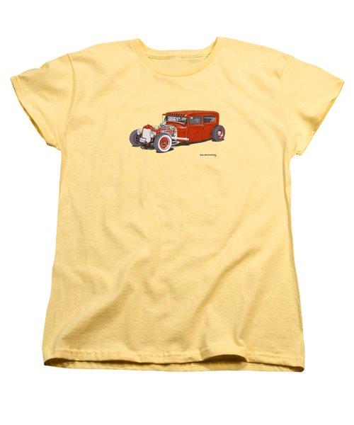 1928 Ford Tudor Jalopy Ratrod Women's T-Shirt (Standard Cut) by Jack Pumphrey