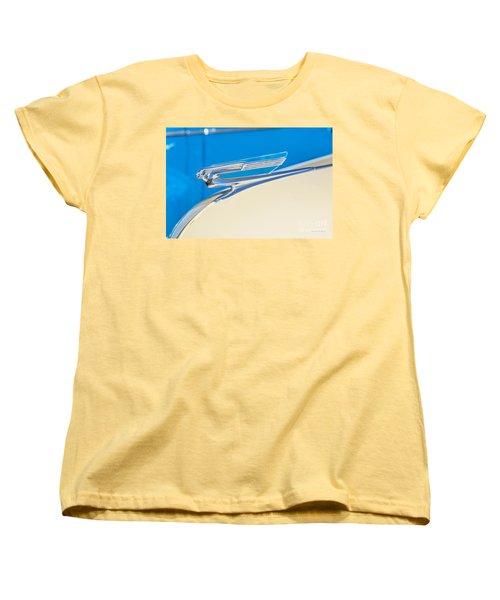 Women's T-Shirt (Standard Cut) featuring the photograph 1941 Chevy Hood Ornament by Aloha Art