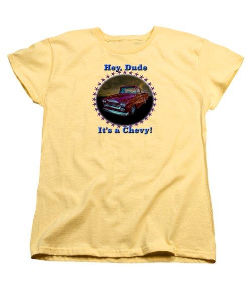 1959 Chevy Pickup Women's T-Shirt (Standard Cut) by Richard Farrington