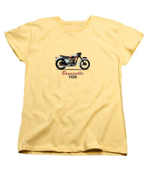 1959 T120 Bonneville Women's T-Shirt (Standard Cut) by Mark Rogan
