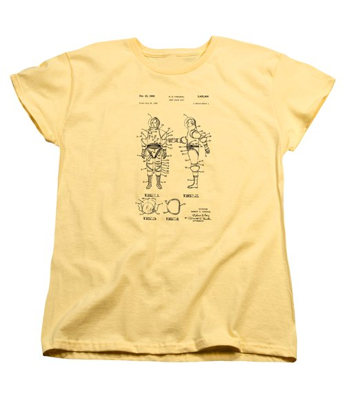 1968 Hard Space Suit Patent Artwork - Vintage Women's T-Shirt (Standard Cut) by Nikki Marie Smith