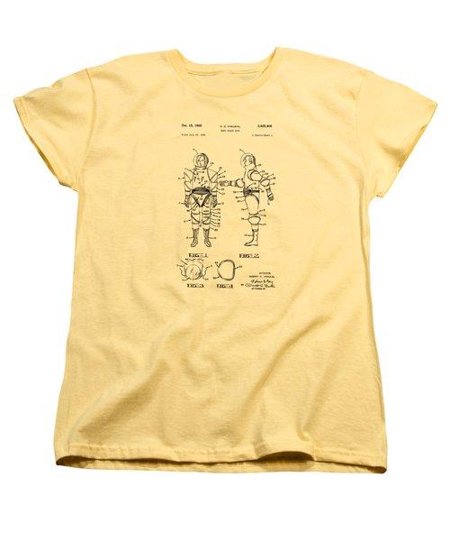 1968 Hard Space Suit Patent Artwork - Vintage Women's T-Shirt (Standard Cut)
