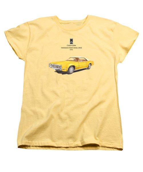 1970 Oldsmobile Toronado Women's T-Shirt (Standard Cut) by Jack Pumphrey