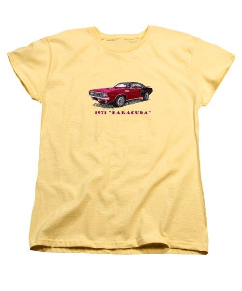1971 Plymouth Barracuda Women's T-Shirt (Standard Cut) by Jack Pumphrey