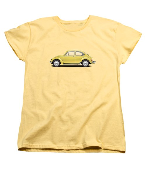 1972 Volkswagen Beetle - Saturn Yellow Women's T-Shirt (Standard Cut) by Ed Jackson