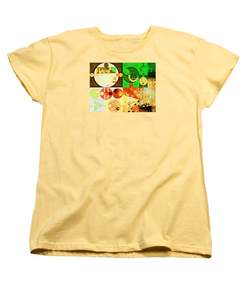 Abstract Painting - Kelly Green Women's T-Shirt (Standard Cut) by Vitaliy Gladkiy