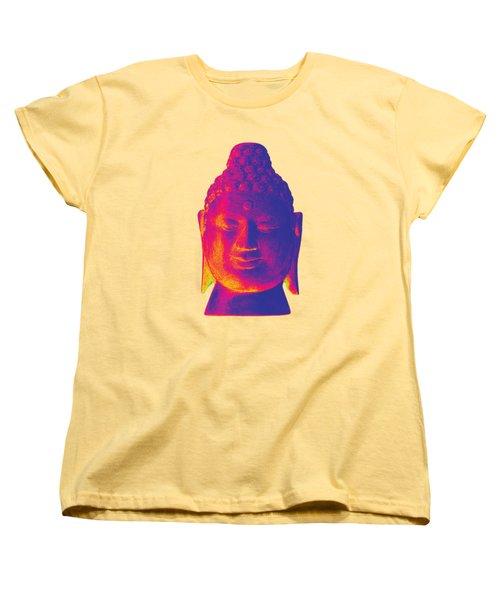 colorful Buddha - Borobudur Women's T-Shirt (Standard Cut) by Terrell Kaucher