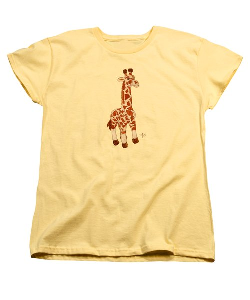 Cuddly Giraffe Women's T-Shirt (Standard Cut) by Angeles M Pomata