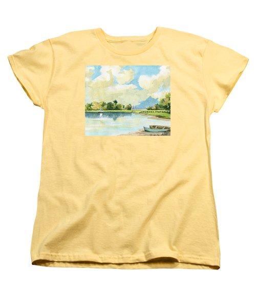 Fishing Lake Women's T-Shirt (Standard Cut) by Alban Dizdari