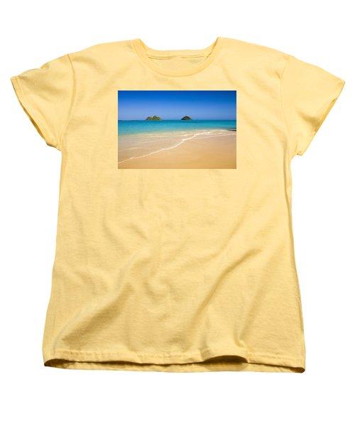 Lanikai, Mokulua Islands Women's T-Shirt (Standard Cut) by Tomas del Amo - Printscapes