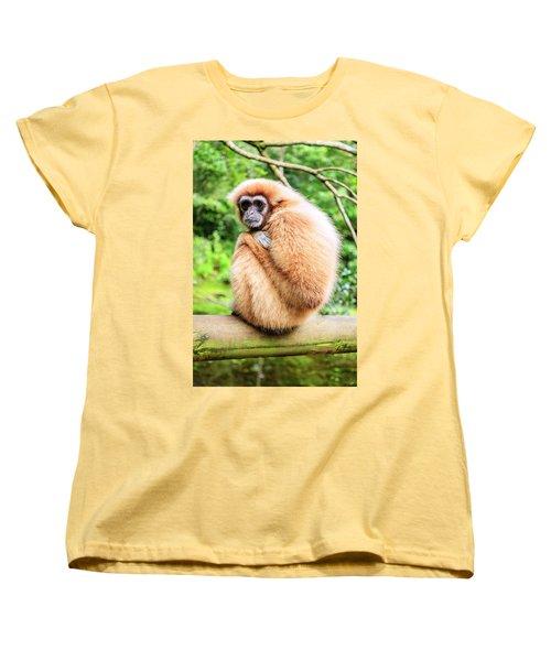 Women's T-Shirt (Standard Cut) featuring the photograph Lar Gibbon by Alexey Stiop