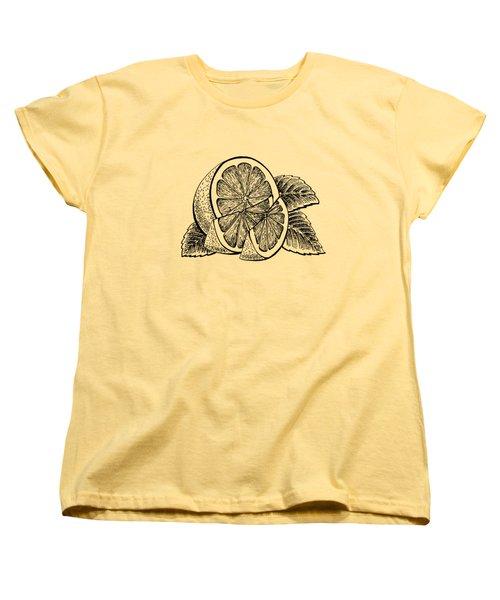 Lemon Women's T-Shirt (Standard Cut) by Irina Sztukowski