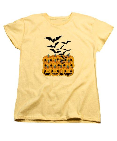 Pumpkin Women's T-Shirt (Standard Cut) by Mark Ashkenazi