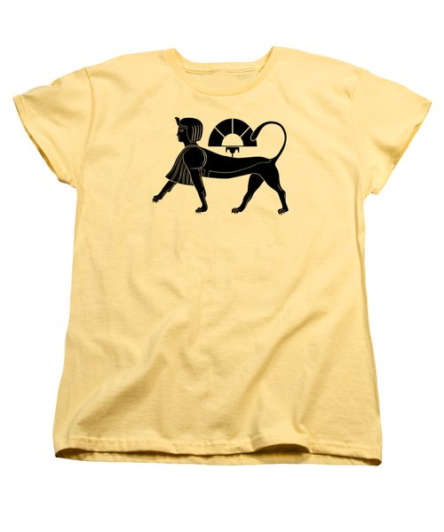 Sphinx - Mythical Creature Of Ancient Egypt Women's T-Shirt (Standard Cut) by Michal Boubin
