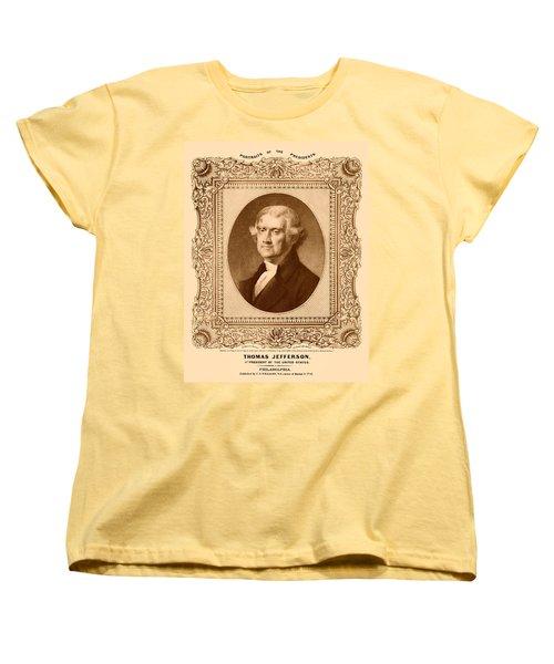 Thomas Jefferson Women's T-Shirt (Standard Cut) by War Is Hell Store