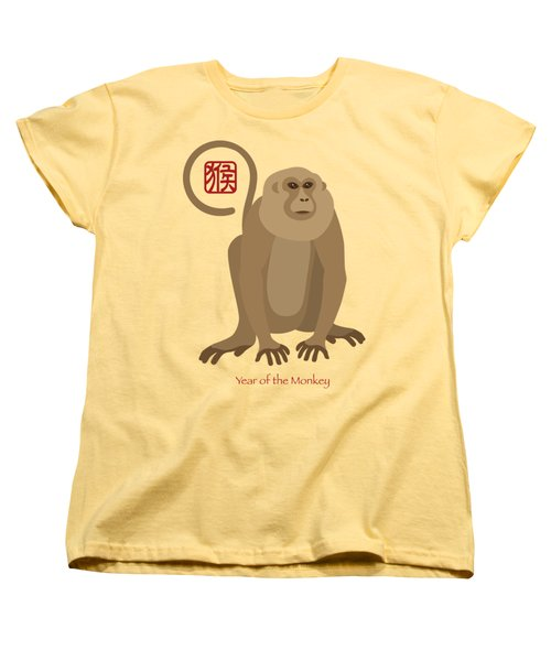 2016 Chinese New Year Of The Monkey Women's T-Shirt (Standard Cut) by Jit Lim