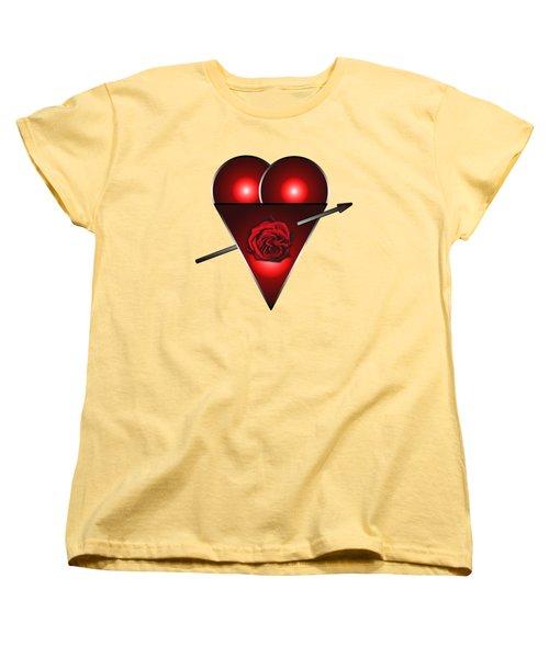 21st Century Love Heart  Women's T-Shirt (Standard Cut) by Tom Conway