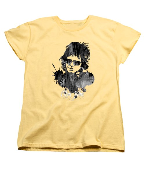 Elton John Collection Women's T-Shirt (Standard Cut) by Marvin Blaine
