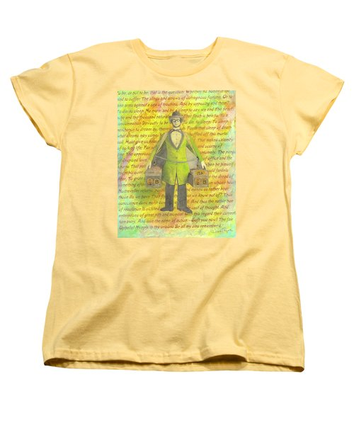 Women's T-Shirt (Standard Cut) featuring the mixed media 2b Or Not 2b by Desiree Paquette