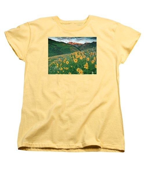 Albion Basin Wildflowers Women's T-Shirt (Standard Cut) by Utah Images