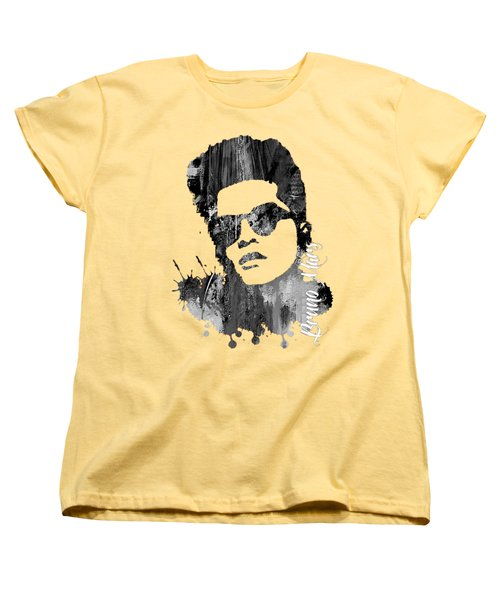 Bruno Mars Collection Women's T-Shirt (Standard Cut) by Marvin Blaine